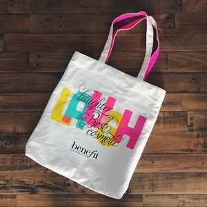 🆕 Benefit Lined Canvas Tote